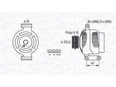 Alternator Opel Astra, Meriva, 120 A, 53,5 mm