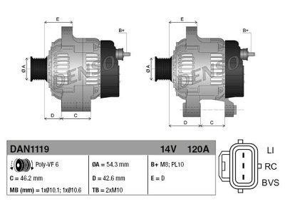 Alternator Volvo V50 04-12
