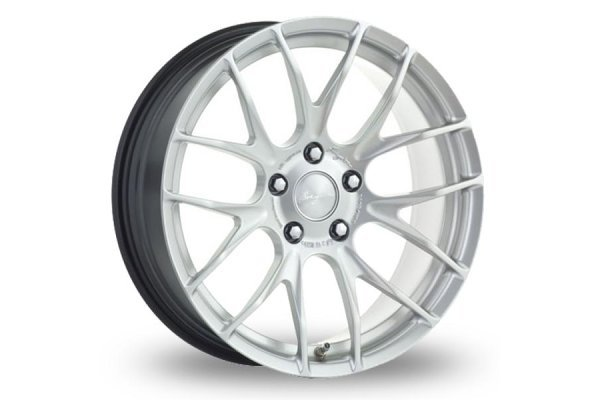 Aluminijasto platišče 4x100 ET40 7,0x17 RACE GTS-R hyper silber BREYTON