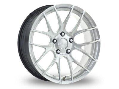 Aluminijasto platišče 4x100 ET40 7,0x18 RACE GTS-R hyper silber BREYTON