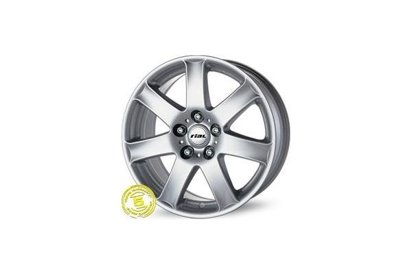 Aluminijasto platišče  5x100 ET36 7,5x17 RIAL FLAIR srebrna 63,3