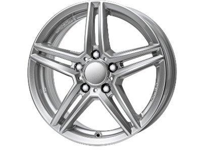 Aluminijasto platišče 5x112 ET48 8,0x17 UNIWHEELS M10 srebrna 66,5