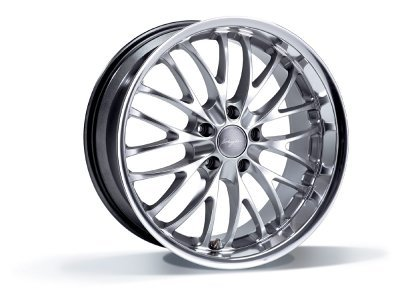 Aluminijasto platišče  5x120 ET35 9,5x19 RACE CS hyper silber BREYTON