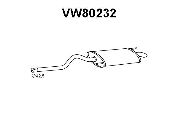 Auspuh 80232 Volkswagen Caddy 95-04, zadnji lonac