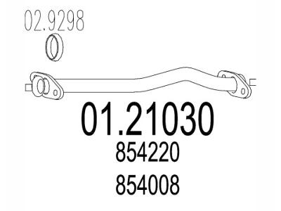 Auspuh 854008 - Opel Kadett E 84-91, prednja izduvna cev