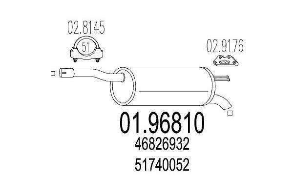 Auspuh Fiat Doblo 01-, zadnji lonac