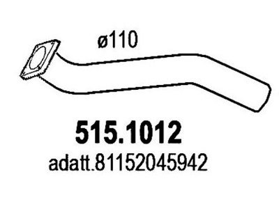 Auspuh Man TGA 00-07, prednja izduvna cev