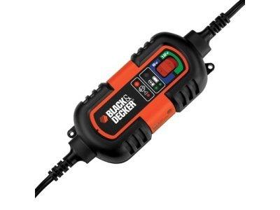 Black&Decker Avtomobilski polnilec/vzdrževalec, 6/12V, 3 možnosti priklopa