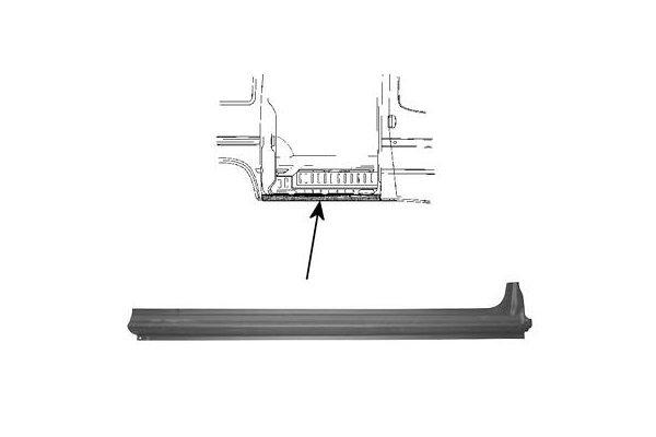 Bočna lajsna Ford Transit 01-, (Desni komad), 122cm
