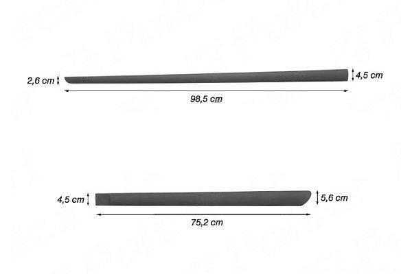 Bočne lajsne Citroen C-Elysee 12-