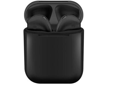 Brezžične Bluetooth slušalke Original i12 TWS Black Matt, prostoročno telefoniranje, glasba, Touch Control