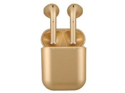 Brezžične Bluetooth slušalke Original i12 TWS Gold, prostoročno telefoniranje, glasba, Touch Control, Zlate