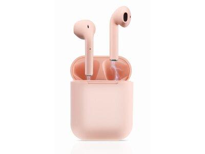 Brezžične Bluetooth slušalke Original i12 TWS Pink, prostoročno telefoniranje, glasba, Touch Control, Roza