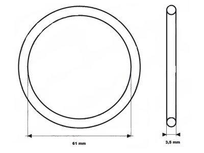 Brtvilo termostata UOR11 - 61x3,5 mm