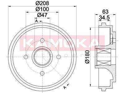 Bubanj kočnica 104046 - Opel Agila 00-07