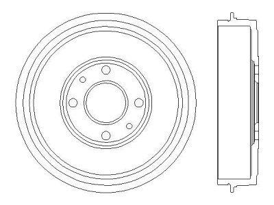 Bubanj kočnica BF379 - Alfa Romeo 145 94-00