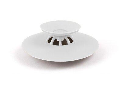 Čep za lavabo, silikonski, bijela
