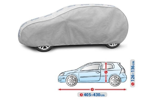 Cerada za auto Kegel Grey L1 Hatchback/Caravan, 405-430 cm