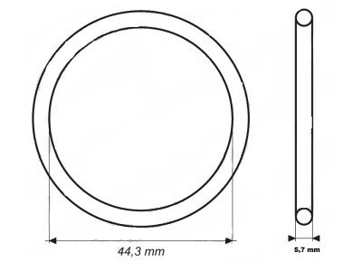 Dihtung termostata  UOR03 - 44,2x5,7 mm