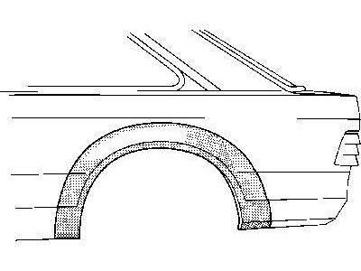 Dio stražnjeg blatobrana Ford ESCORT III ali IV 80-90 2V