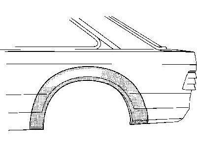 Dio stražnjeg blatobrana Ford ESCORT III ali IV 80-90 4V