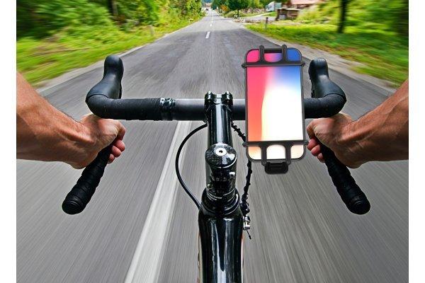 Držač mobitela za bicikl, super prilagodljiv, silikonski
