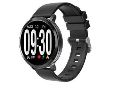 Elegantna pametna ura S8, pedometer, krvni tlak, črna