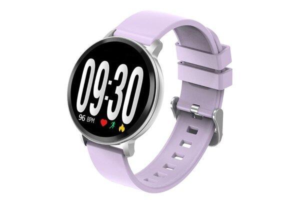 Elegantna pametna ura S8, pedometer, krvni tlak, vijolična