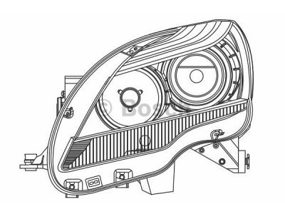 Far Mercedes-Benz Razred R (W251) 05-15, halogenski
