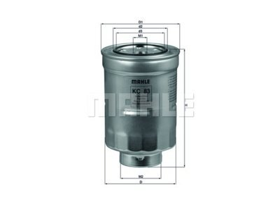 Filter goriva 103057 - Mitsubishi, Toyota