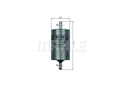 Filter goriva 103435 - Citroen, Fiat, Lancia