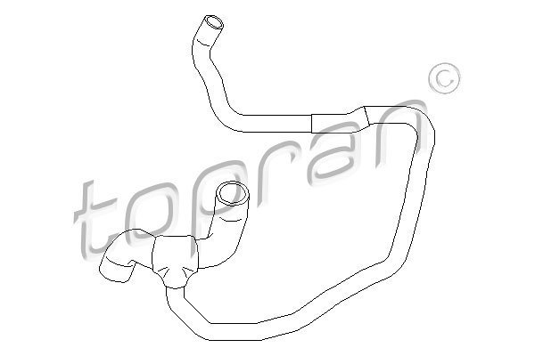 Fleksibilna cev hladnjaka vode Opel Corsa 00-06 1.7 DI / 1.7 DTI