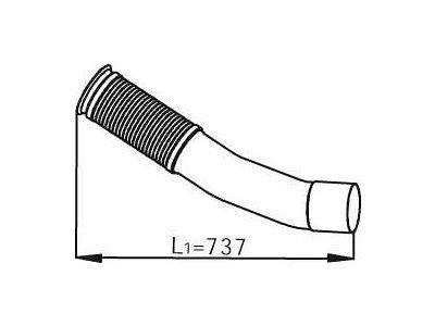Fleksibilna cijev 54247 - Mercedes-Benz Actros 03-