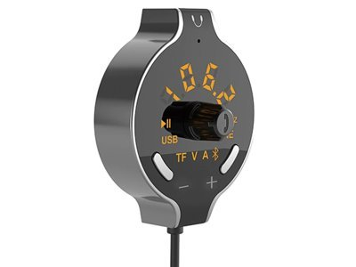 FM odašiljač i punjač s kablom 1.5 m.Bluetooth 4.2+ EDR, magnet