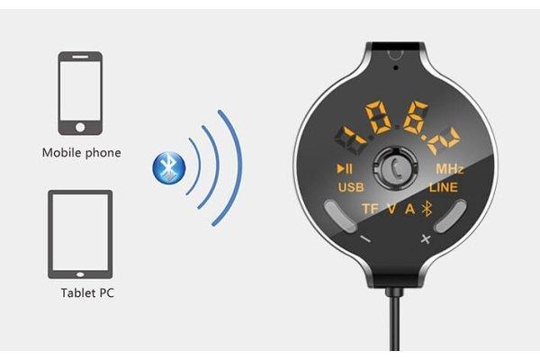 FM predajnik i punjač sa kablom 1,5 m, Bluetooth 4.2 + EDR magnet
