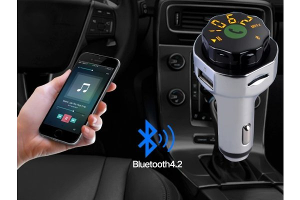 FM predajnik i USB punjač, Bluetooth v4.2 + EDR, AUX, MP3