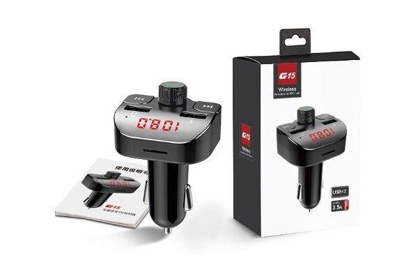 FM predajnik i USB punjač  G15, 2 USB, Bluetooth 5.0