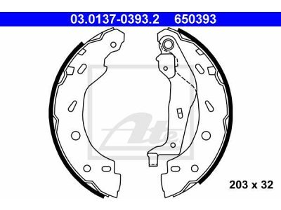 Garnitura kočionih čeljusti Renault Kangoo 98-08