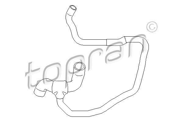 Gibka cev hladilnika vode Opel Corsa 00-06 1.7 DI / 1.7 DTI