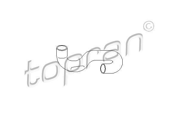 Gibka cev hladilnika vode Opel Tigra 94-00 1.4 / 1.6 16V