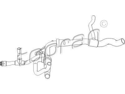 Gibka cev hladilnika vode Opel Vectra 95-02 1.6 i 16V