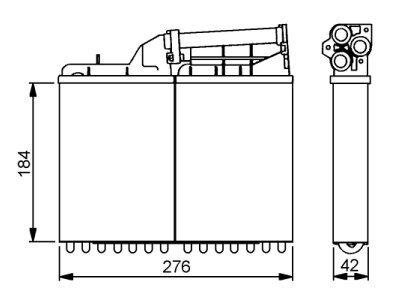 Grejač kabine BMW 5 E34 88-95 (1348725)