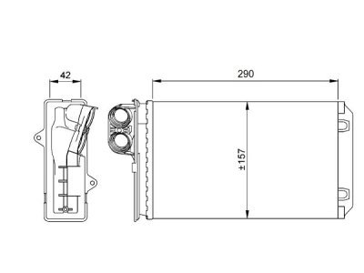 Grejač kabine Citroen XM 89-00