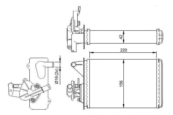 Grejač kabine Fiat FIORINO 88-07 (5943154)