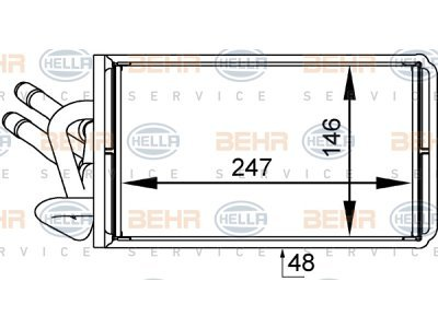 Grejač kabine Ford TRANSIT 00-06 (4042576), Visteon