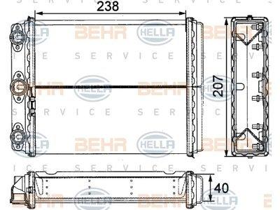 Grejač kabine Mercedes 124/E-KLASSE 84-/93-96 (0028353801), Behr