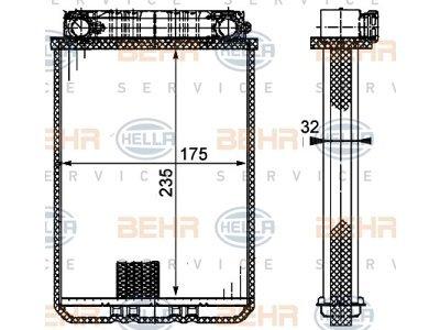 Grejač kabine Mercedes-Benz C-Klasa (W203) 00-07