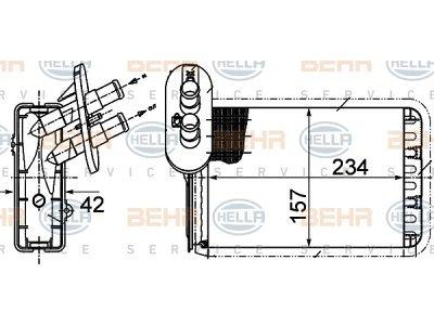 Grelec kabine Ford GALAXY 95-00 (1072814), Behr