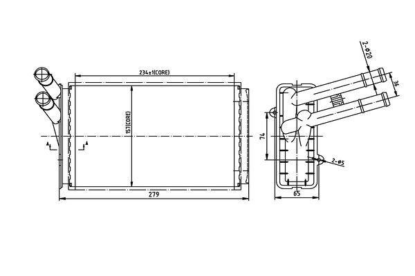 Grijač kabine Audi A4 94-00 (893819030A), Behr