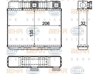Grijač kabine BMW 3 E46 98-06 (8372783), Behr
